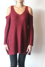 Load image into Gallery viewer, Cold Shoulder Sweater