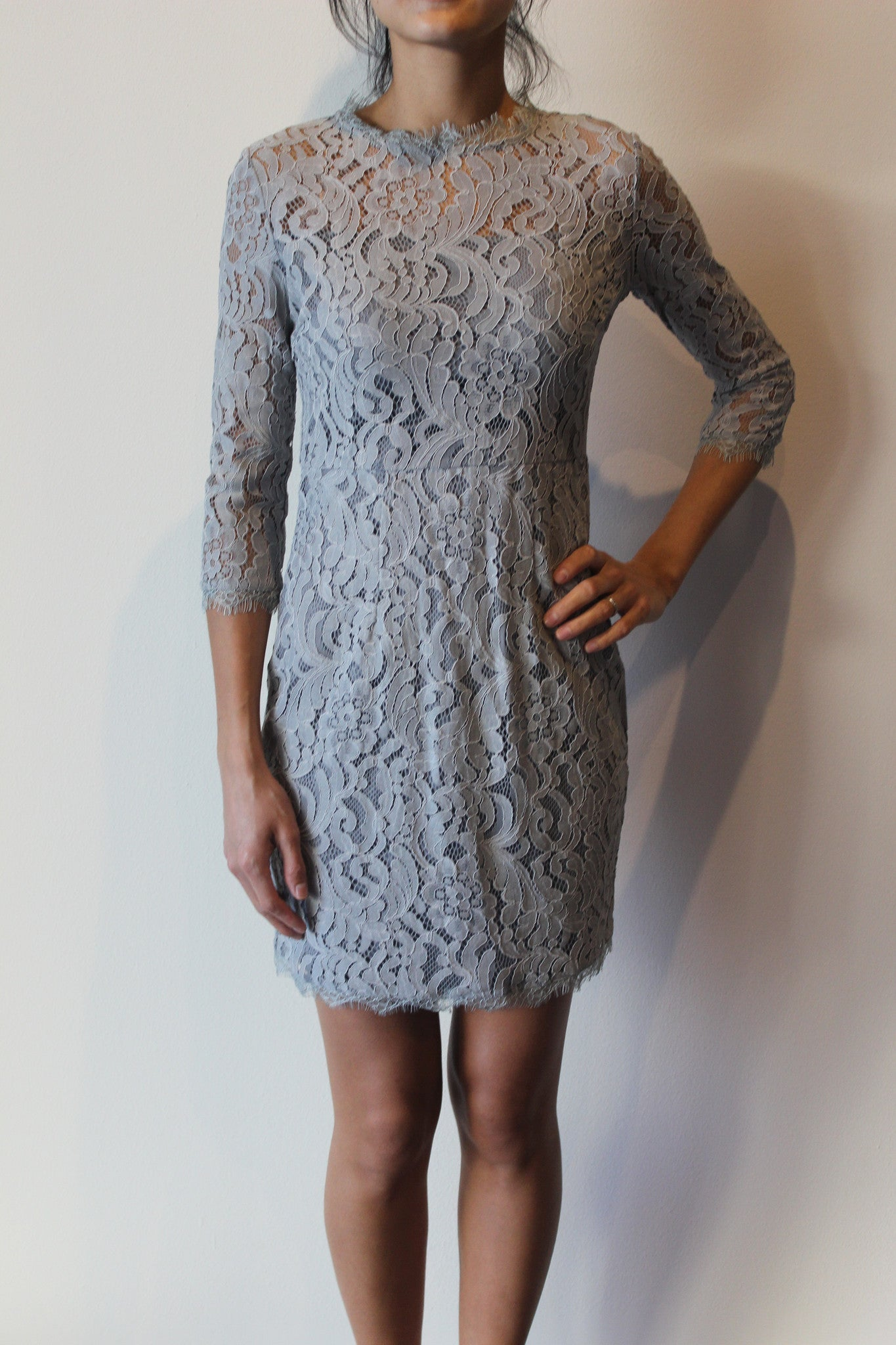3/4 Slv Lace Dress