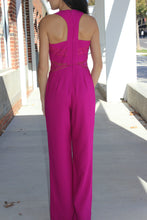 Load image into Gallery viewer, Velvet Waist Racerback Jumpsuit