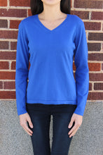 Load image into Gallery viewer, Cotton Cashmere Vneck Sweater