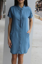 Load image into Gallery viewer, S/S Emilia Chambray Shirtdress