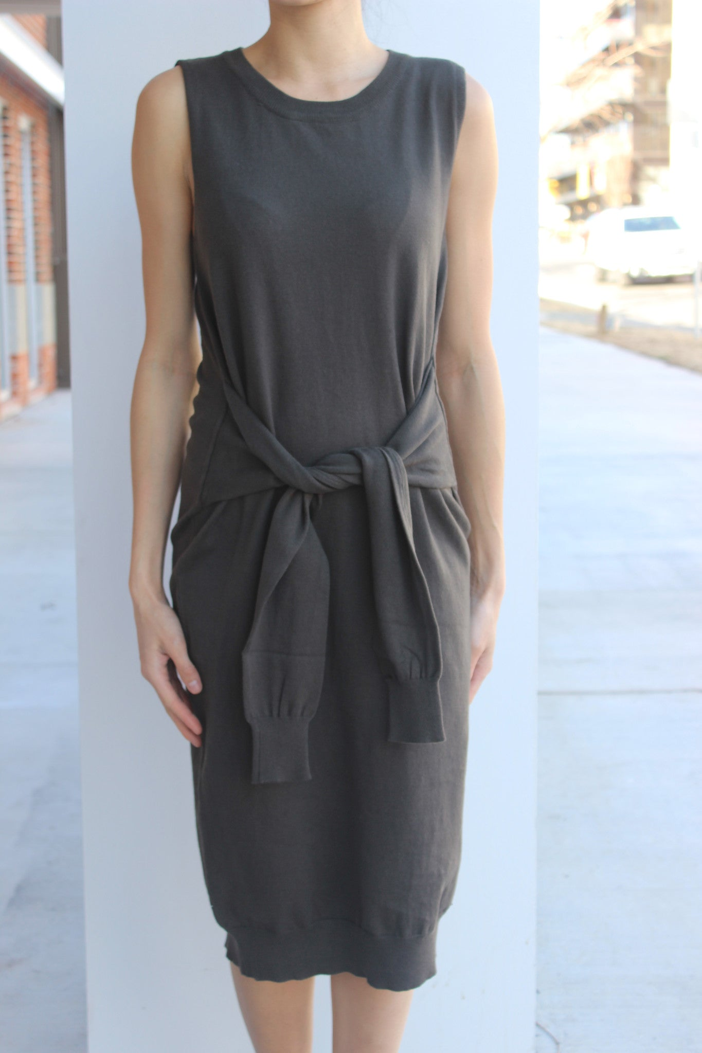 Wrap & Tie S/L Dress