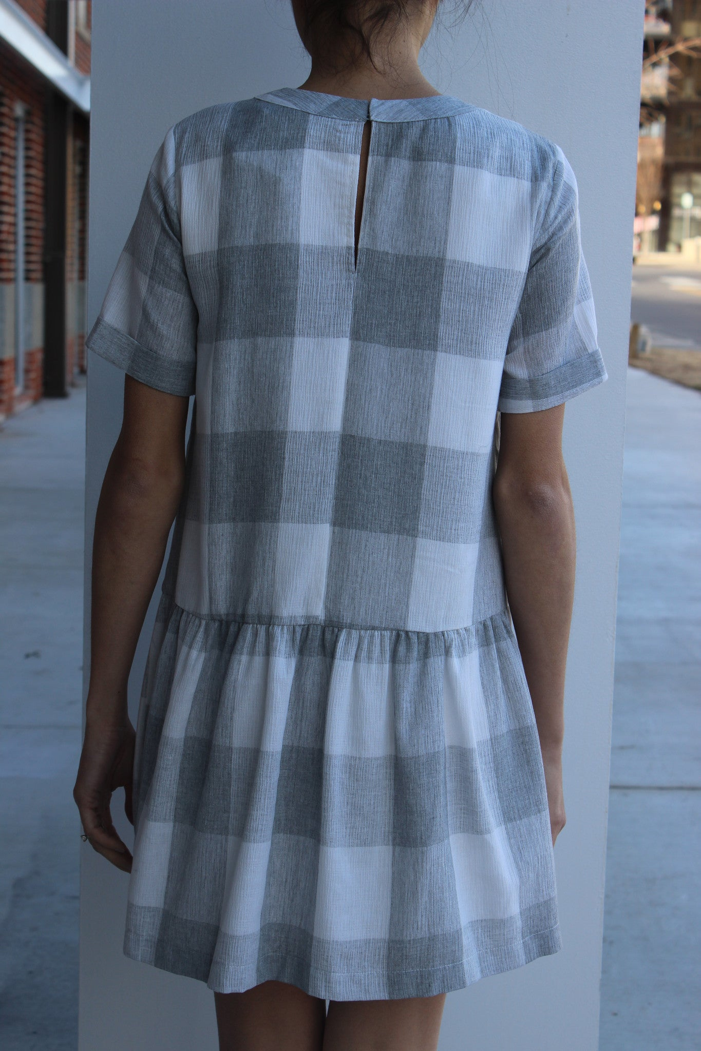 S/S Plaid Dress