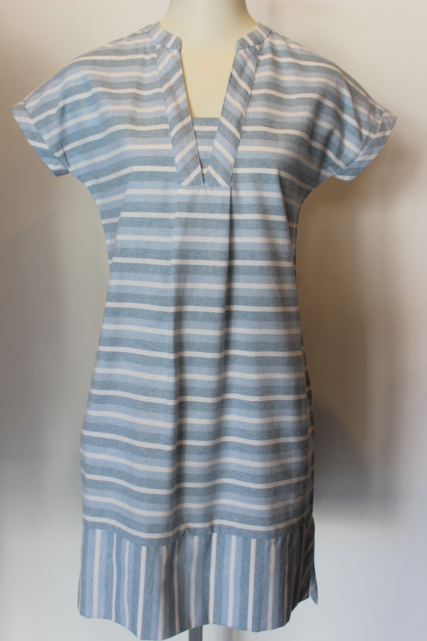 S/S Blue Stripe Dress