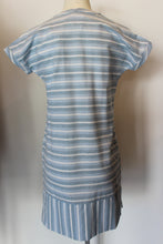 Load image into Gallery viewer, S/S Blue Stripe Dress