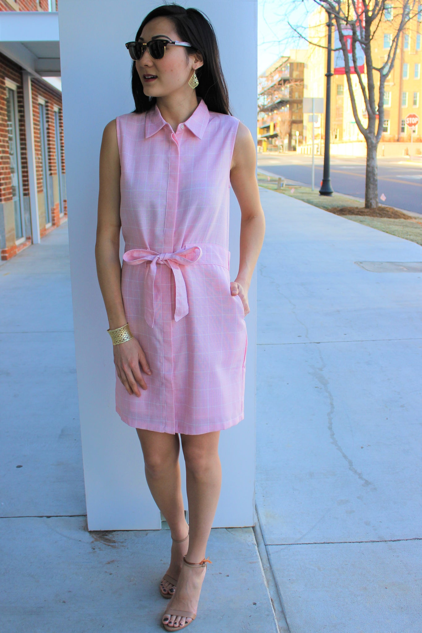 Arista Front Tie Dress