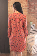 Load image into Gallery viewer, Long Sleeve Print Dress w/Tassels