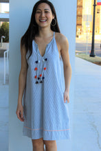 Load image into Gallery viewer, Sleeveless  Front Tie Dress w/Pockets
