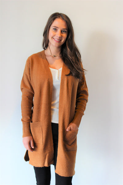 Classic Cardigan with Front Pockets