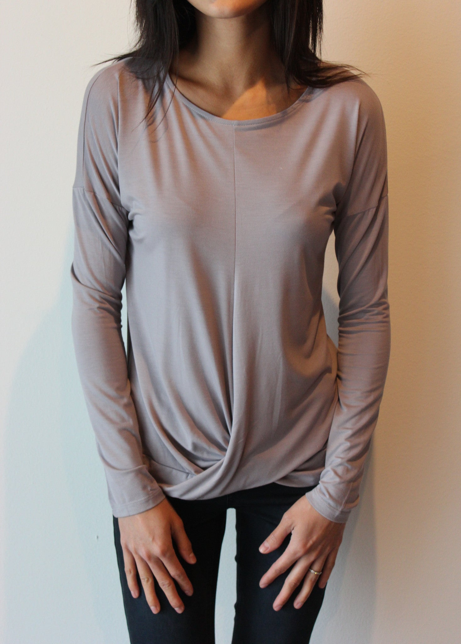 Longsleeve Knotted Top