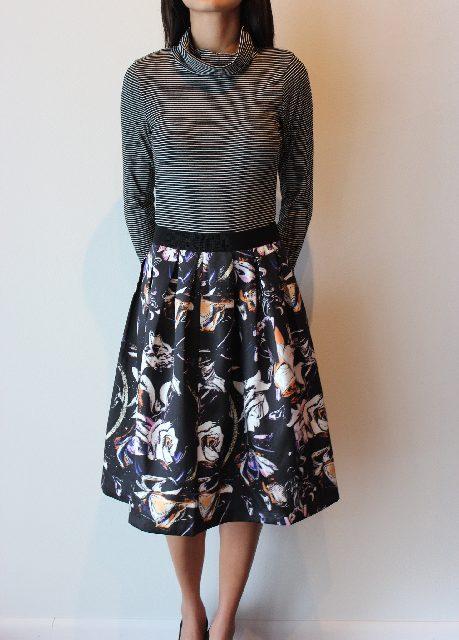 Floral Mid Length Skirt