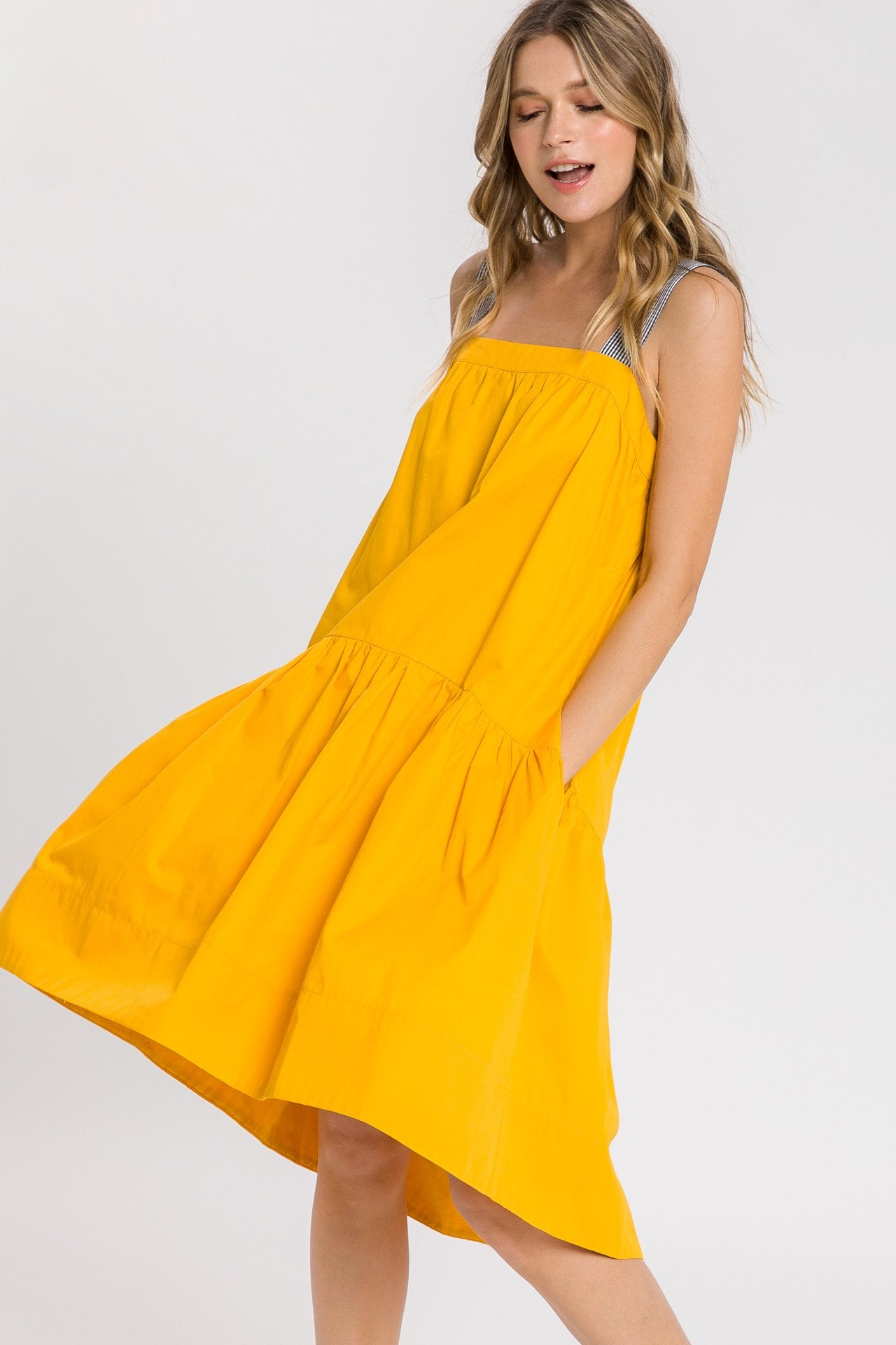 Tent Shape Midi Dress