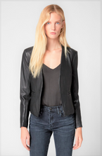 Load image into Gallery viewer, Faux Leather Blazer Jacket