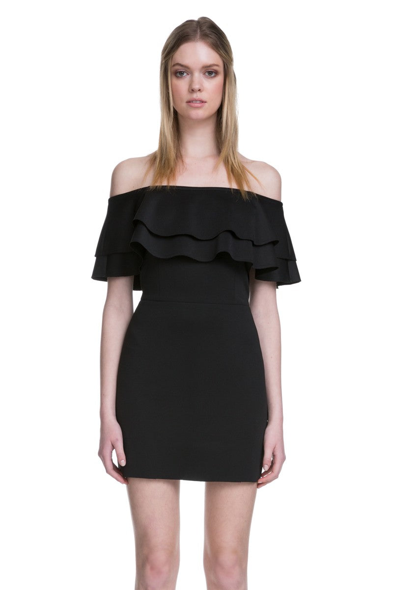 Milly Ruffle Off Shoulder Dress