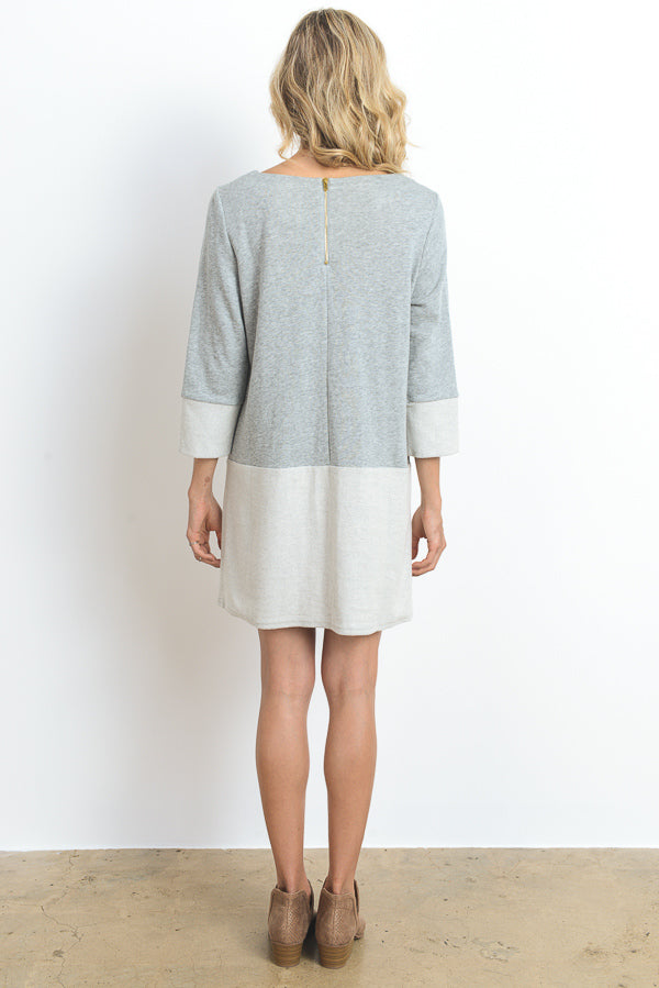 L/S Tunic Knit Dress w/Front Pockets