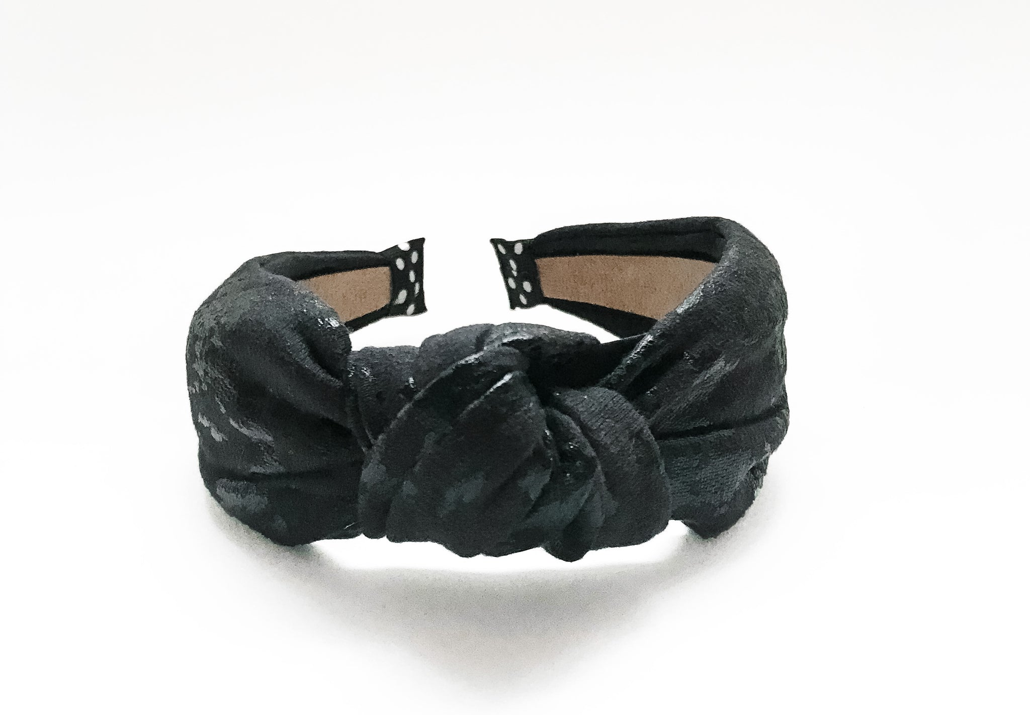 Black Foil Knotted Headband