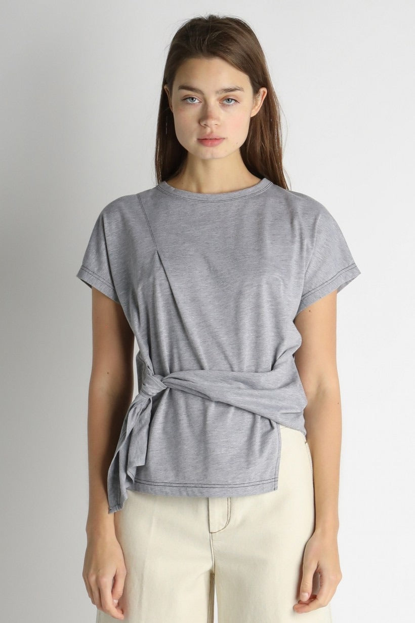 Tie Side Knit Tee