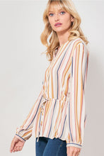 Load image into Gallery viewer, Multicolor Stripes Drawstring Waist