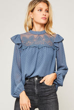Load image into Gallery viewer, Swiss Dot Lace Blouse