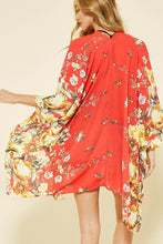 Load image into Gallery viewer, Flower Print Kimono