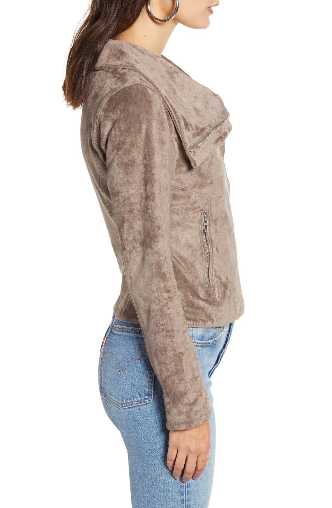 Taupe Faux Suede Jacket