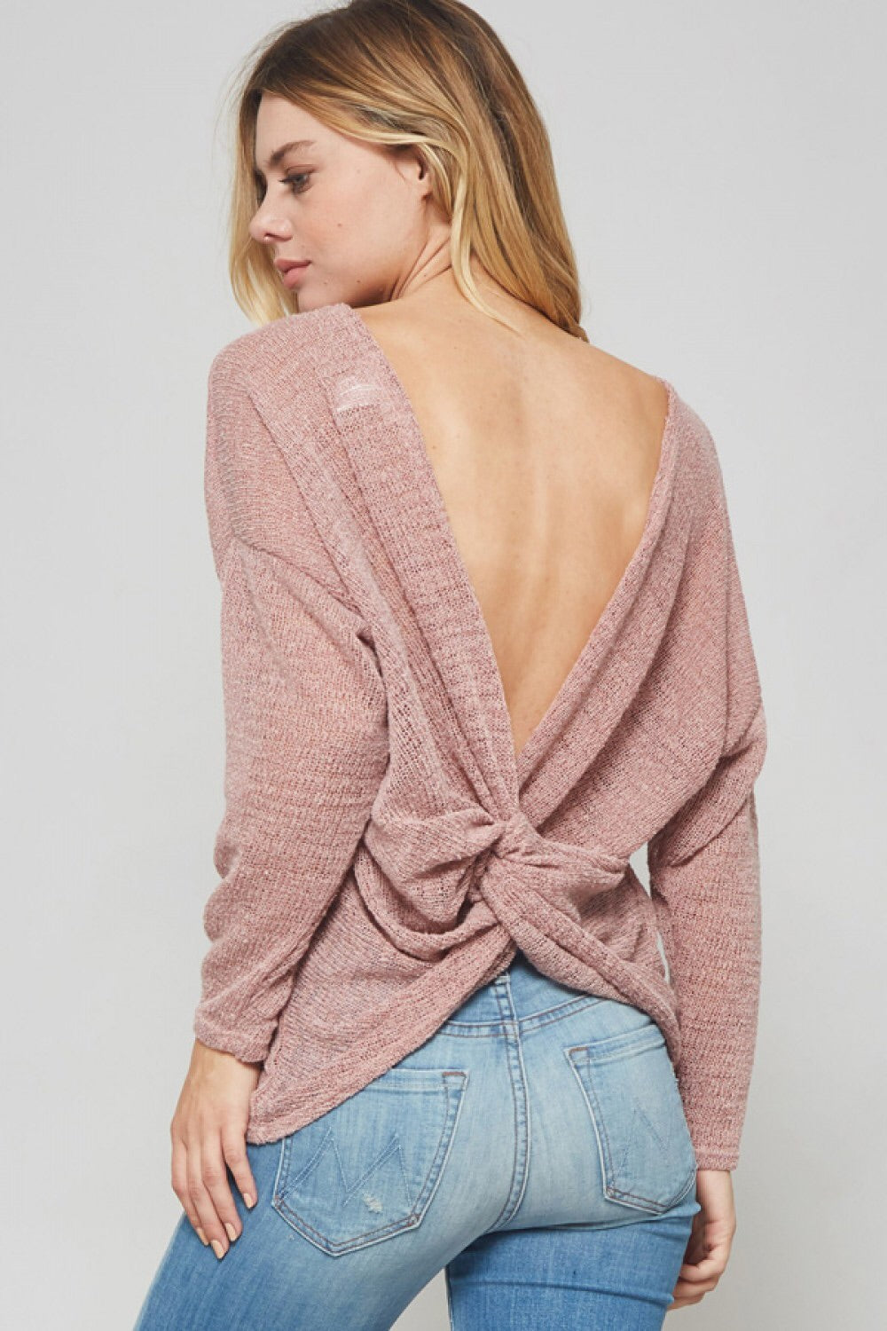 Mesh Back Knot Top