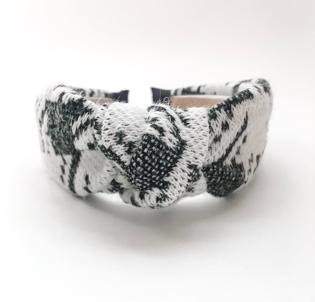 Large Houndstooth Knotted Headband