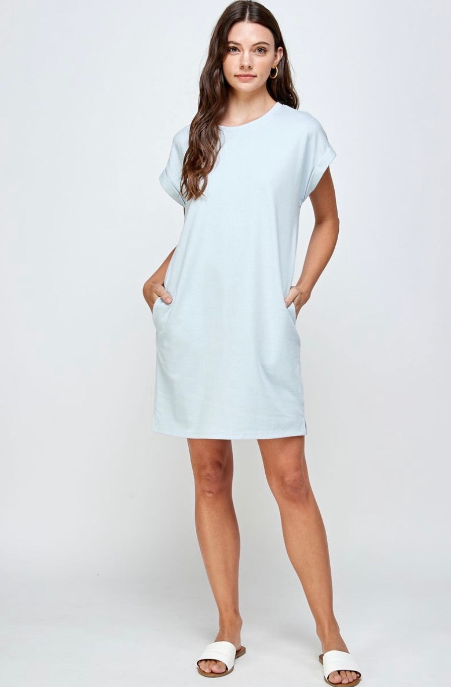 Blue Classic T-Shirt Dress