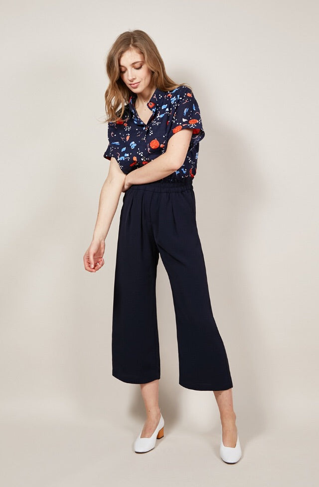 Perrine Wide Leg Pants with Pockets