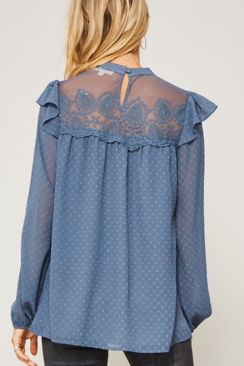 Swiss Dot Lace Blouse
