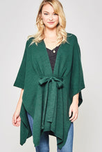 Load image into Gallery viewer, Front Tie Poncho Cardigan