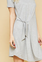 Load image into Gallery viewer, Striped Knit Side Tie Dress