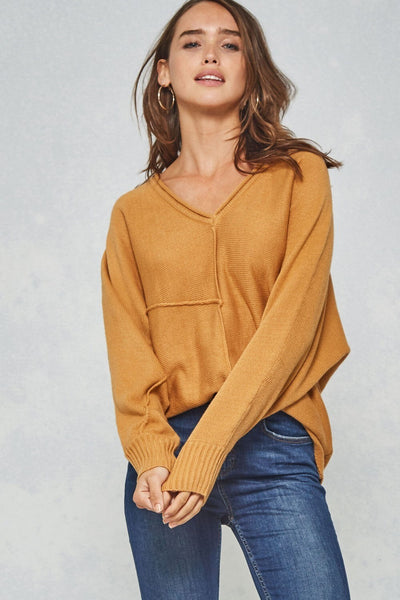 Knit V-neck Sweater