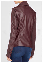 Load image into Gallery viewer, Waterfall Leather Jacket