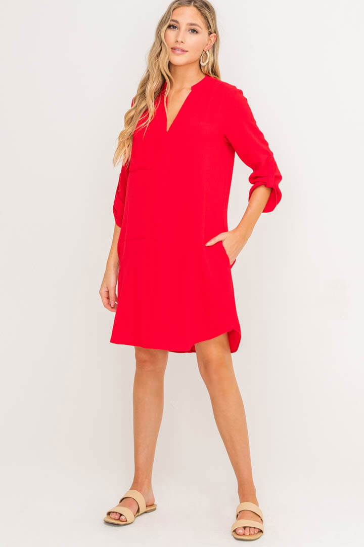 Novak Shift Tunic Dress with Pockets