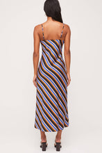 Load image into Gallery viewer, Stripe Satin Cami Dress