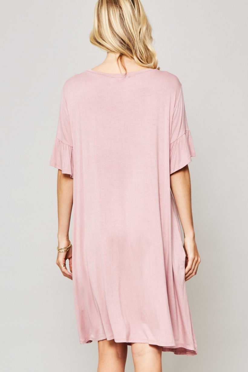 Butter Soft Ruffle Sleeve Knit Dress