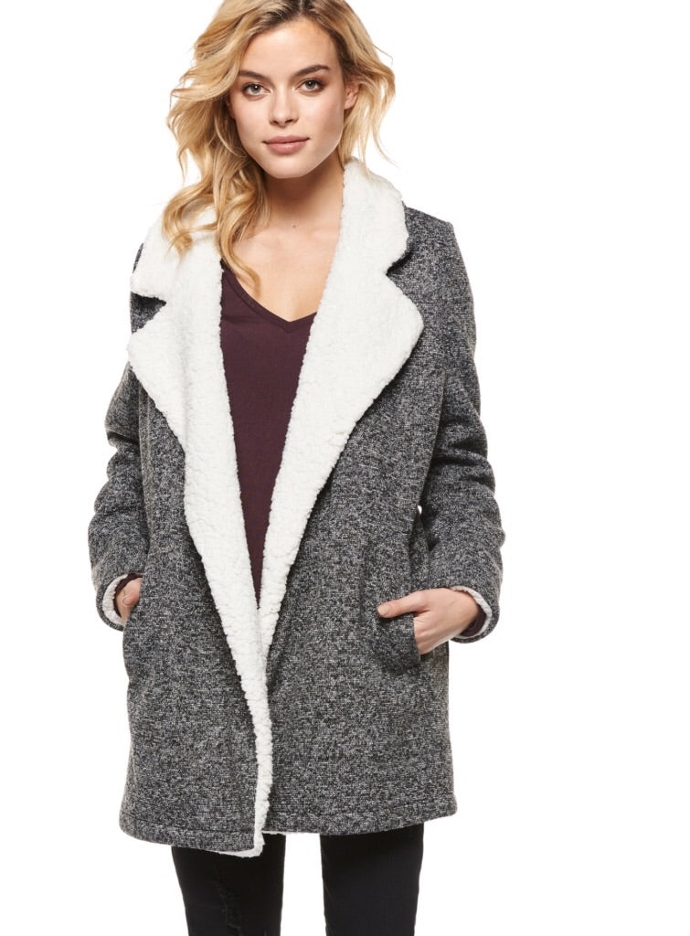 Sherpa Collar Coat