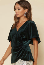Load image into Gallery viewer, Flutter Sleeve Velvet Top