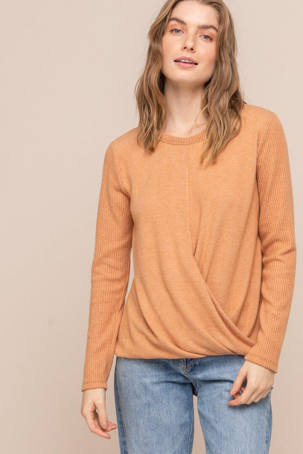 Bottom Crossover Knit Top