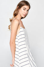 Load image into Gallery viewer, Direction Striped Ruffle Bottom Dress