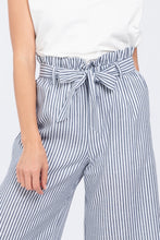 Load image into Gallery viewer, Front Tie Stripe Wide Leg Pants