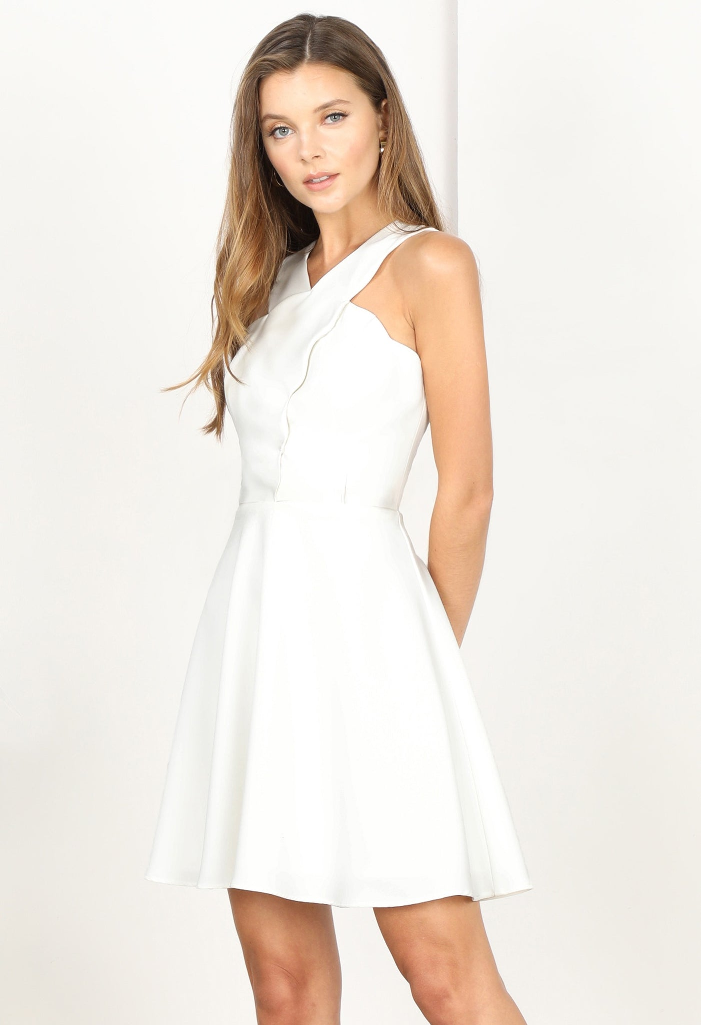 Lenora Scallop Fit and Flare Dress