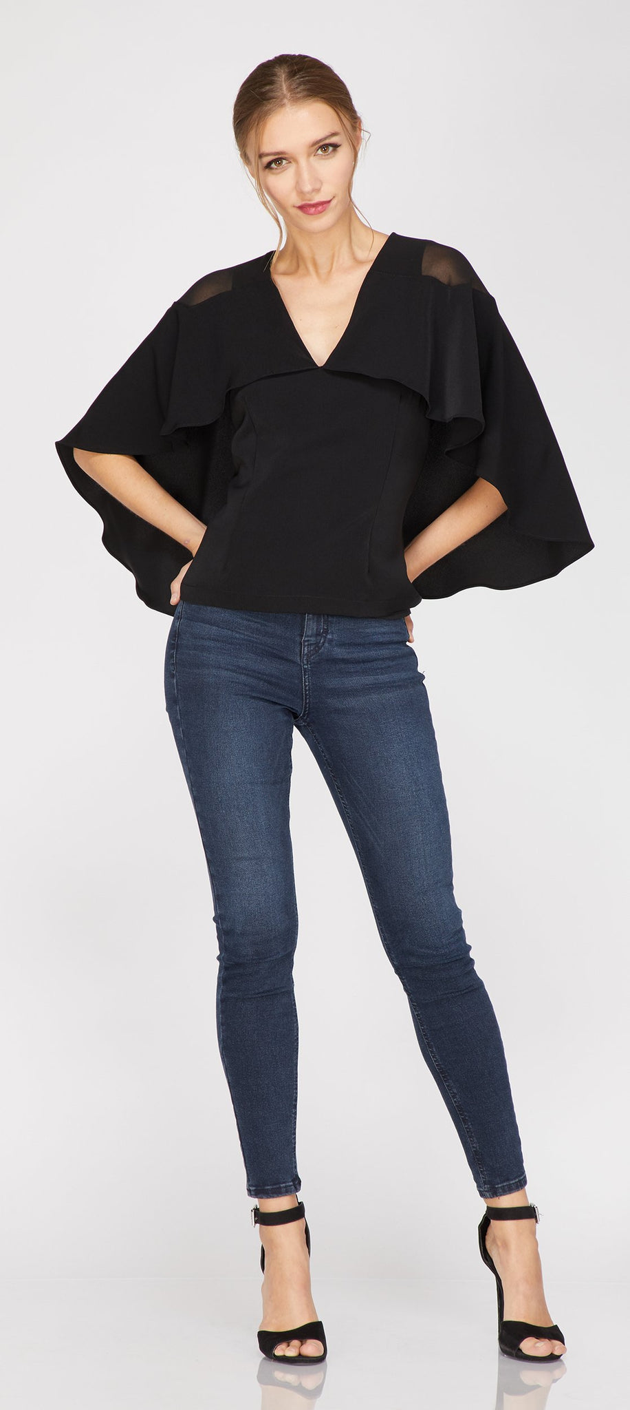 Drea Cape Blouse