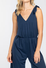 Load image into Gallery viewer, Shoulder Tie Knit Jumpsuit