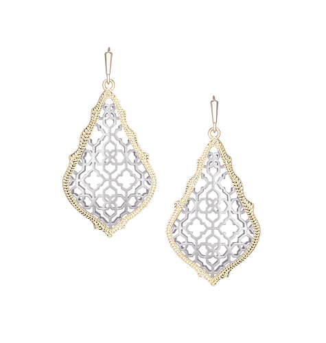 ADDIE GOLD/RHOD MIX EARRINGS