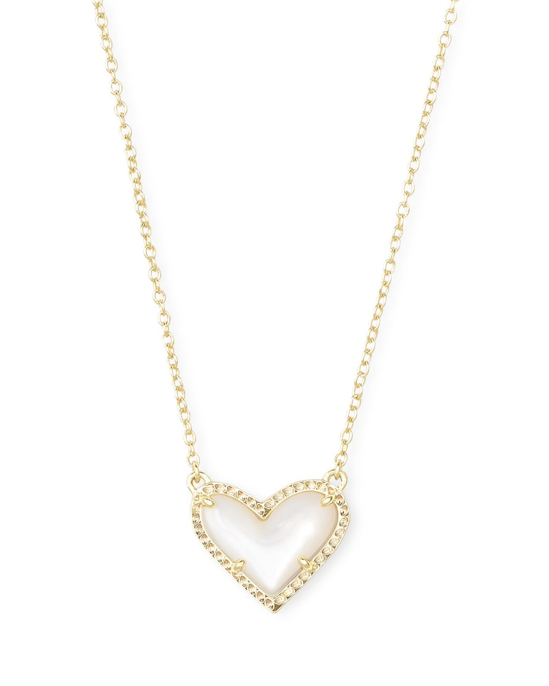Ari Heart Ivory MOP Pendant Necklace