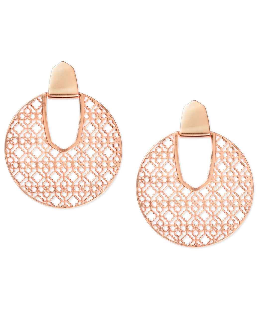 DIANE ROUND PLATE EARRINGS