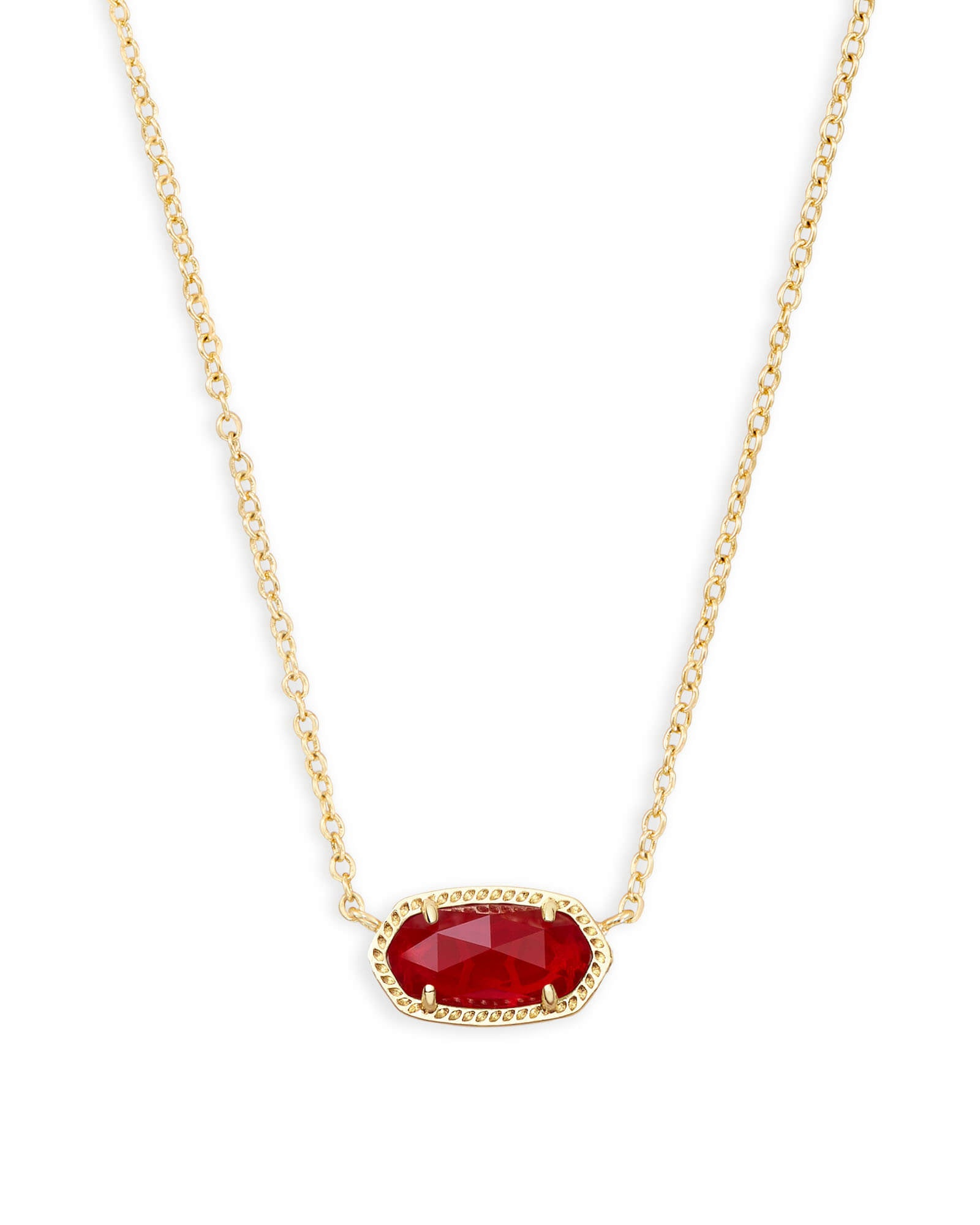 Elisa Necklace in GD Red