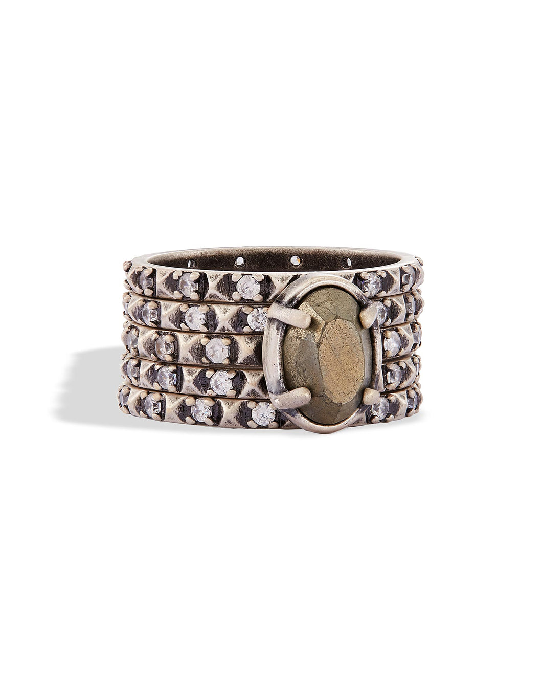 REYA STACKED STONE RINGS